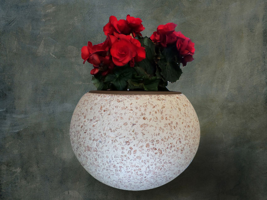 Vaze od kulira, Terrazzo Blumenvase, Übertopf